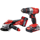 Einhell Power X-Change TE-TK 18V Drill Driver and Angle Grinder Kit