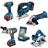 Bosch BAG+6RS 6 Piece 18V Power Tool Kit