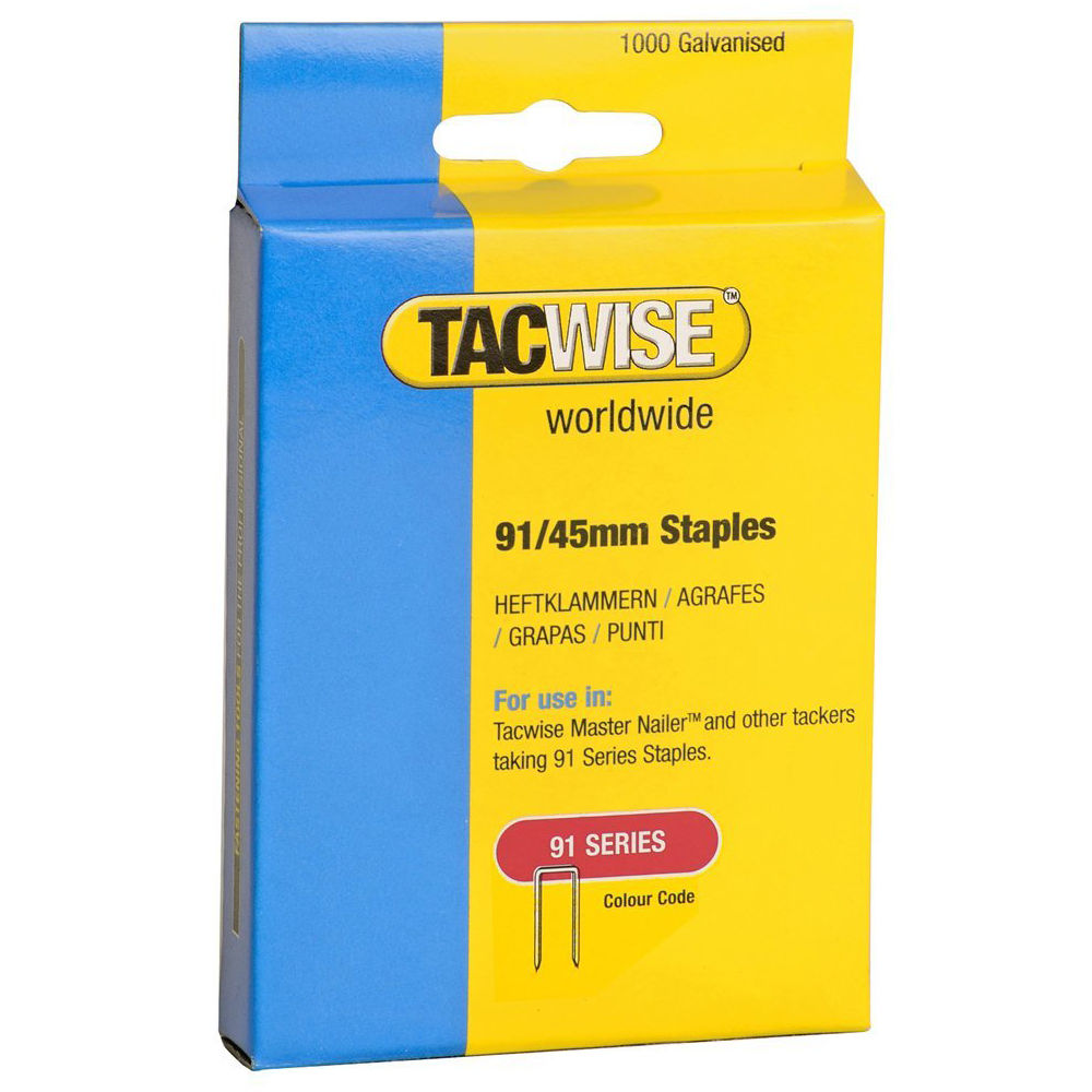 Tacwise 91 Series Staples 18 Gauge 1000 Pack Different Size Available