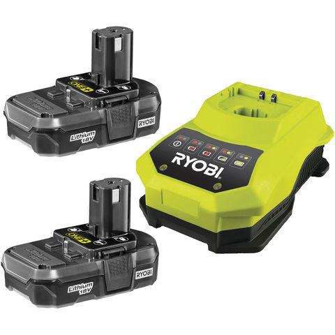 Image of Ryobi One+ Ryobi One+ 18V 2x1.3Ah Batteries & Charger