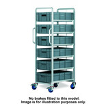Topstore 6 Tier Euro Container Tray Trolley with 6 30 Litre Containers