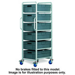 Topstore 6 Tier Euro Container Tray Trolley with 6 40 Litre Containers
