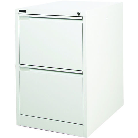 Image of Steelco Steelco 2DFCM 2 Drawer Filing Cabinets (Light Grey)