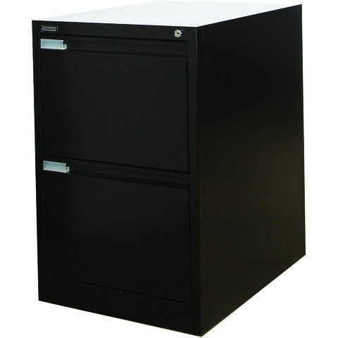 Image of Steelco Steelco 2DFCMX 2 Drawer Filing Cabinet (Black)
