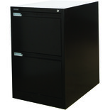 Steelco 2DFCMX 2 Drawer Filing Cabinet (Black)