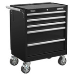 Sealey AP335MB Mobile Project Station with 5 Drawers (Black)