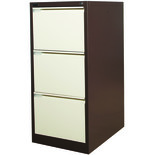Steelco 3DFCM 3 Drawer Filing Cabinet (Brown/ Beige)