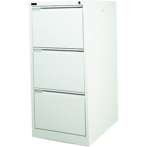 Image of Steelco Steelco 3DFCM 3 Drawer Filing Cabinet (Light Grey)