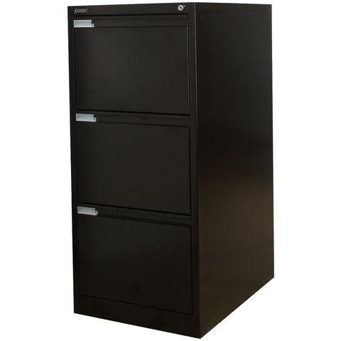 Image of Steelco Steelco 3DFCMX 3 Drawer Filing Cabinet (Black)