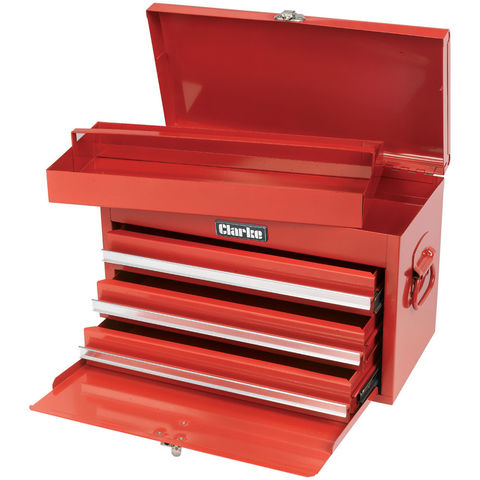 Image of Clarke Clarke CB5 Mechanics' 3 Drawer Chest with Front Cover