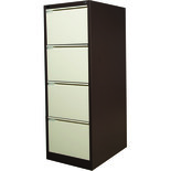 Steelco 4DFCM 4 Drawer Filing Cabinets (Brown/ Beige)