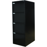 Steelco 4DFCMX 4 Drawer Filing Cabinets (Black)