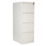 Steelco 4DFCMX 4 Drawer Filing Cabinet (White)