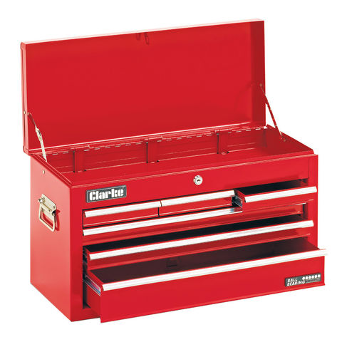 Image of Clarke Clarke CTC600B Mechanics' 6 Drawer Steel Tool Chest