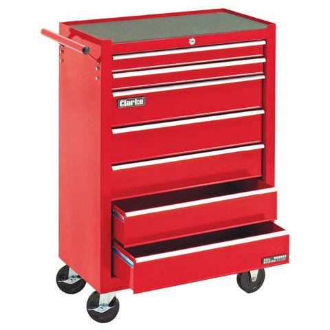Image of Clarke Clarke CTC700B Mechanics' 7 Drawer Steel Tool Cabinet