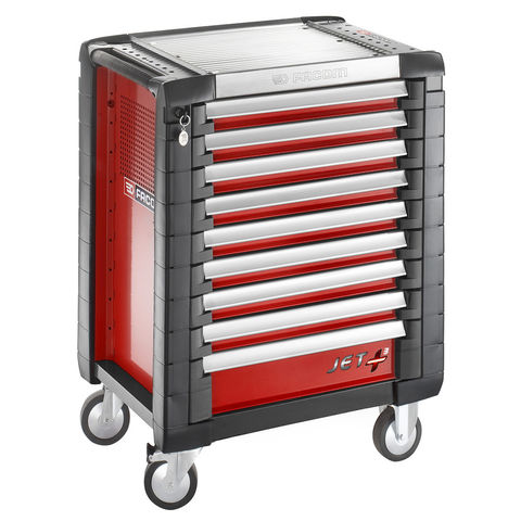 Machine Mart Xtra Facom JET.9M3 – 9 Drawer Red Tool Cabinet