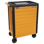 Sealey Rollcab 7 Drawer Push-To-Open Hi-Vis Orange