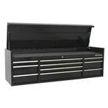 Sealey PTB181510 Heavy-Duty Topchest 10 Drawer 1830mm (Black)