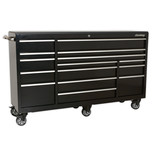 Sealey PTB183015 Heavy-Duty Rollcab 15 Drawer 1845mm (Black)