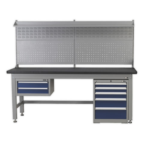 Image of Sealey Modular System Sealey API1800COMB02 1.8m Complete Industrial Workstation & Cabinet Combo