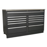 Sealey APMS04 Modular Floor 11 Drawer 1550mm Heavy-Duty Cabinet