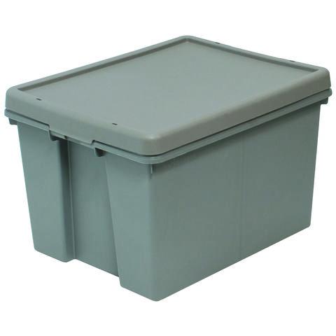 Barton Storage Barton Storage 012496/5 - 45LTR. Upcycled Plastic Box & Lid - Grey Pack of 5 (L500 x W400 x H320mm)