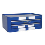 Sealey AP28102BWS Mid-Box 2 Drawer Retro Style (Blue and White)