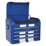 Sealey AP28104BWS Topchest 4 Drawer Retro Style (Blue and White)