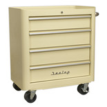 Sealey AP28204 4 Drawer Retro Style Rollcab (Cream)
