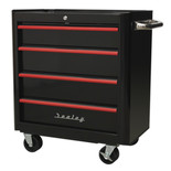 Sealey AP28204BR 4 Drawer Retro Style Rollcab (Black and Red)