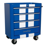 Sealey AP28204BWS Rollcab 4 Drawer Retro Style (Blue and White)
