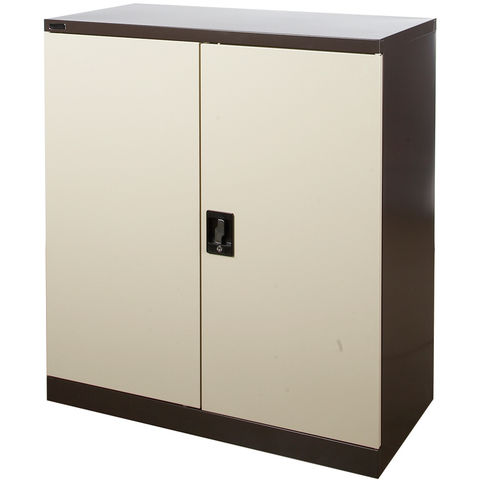 Image of Steelco Steelco 40'' Cupboard with Two Shelves (Brown/Beige)