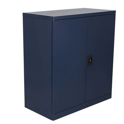 Image of Steelco Steelco 40'' Cupboard with Two Shelves (Blue)