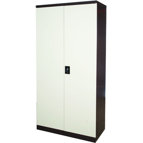 Image of Steelco Steelco 72'' Cupboard with Three Shelves (Brown/Beige)