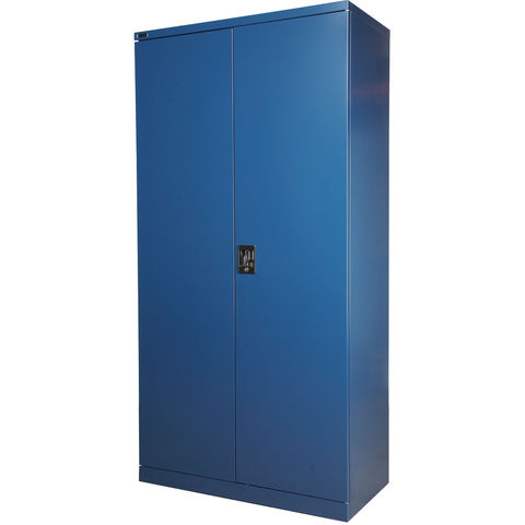 Image of Steelco Steelco 72'' Cupboard with Two Shelves (Blue)