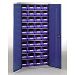 Barton Topstore Container Cabinet with 40 x TC3 Blue Containers