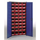 Barton Topstore Container Cabinet with 40 x TC3 Red Containers