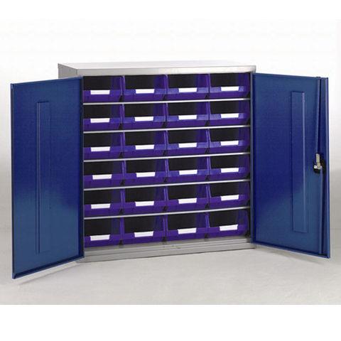 Image of Barton Storage Barton Topstore 12026 5 Shelf Cabinet with 24 x TC4 Blue Bins