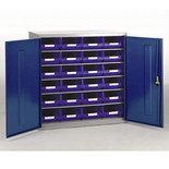 Barton Topstore 12026 5 Shelf Cabinet with 24 x TC4 Blue Bins