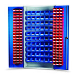 Barton Topstore 013074 Louvre Panel Cabinet (120 Red and 60 Blue Bins)
