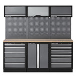 Clarke COMBGMS04 Modular Storage System 14 Piece Package Wooden Worktops