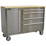 Sealey AP4804SS 4 Drawer Stainless Steel Mobile Tool Cabinet