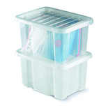 Topstore 012450/10 TopBox 24 Litre Containers with Lids (10 Pack)