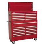 Sealey AP52COMBO1 23 Drawer Combination Tool Chest (Red)