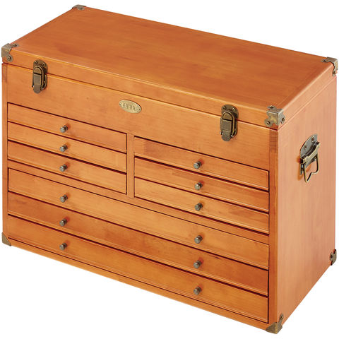 Image of Clarke Clarke CMW-9B 9 Drawer Wooden Machinist Tool Chest