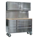 Sealey AP5510SS Mobile 10 Drawer Stainless Steel Cabinet with Backboard
