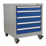 Sealey API5657A Premier Industrial 5 Drawer Mobile Cabinet