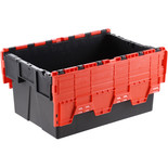 Barton ALC6440/RD/2 77L Attached Lid Euro Container Red/Black (2 Pack)