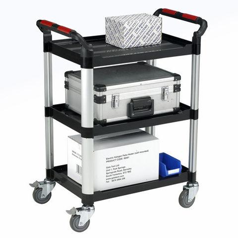 Image of Machine Mart Xtra Barton Utility Tray Trolley - 3 Shelves