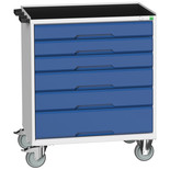 Bott Verso Mobile 6 Drawer Cabinet With Top Tray And Mat 800x550x965mm